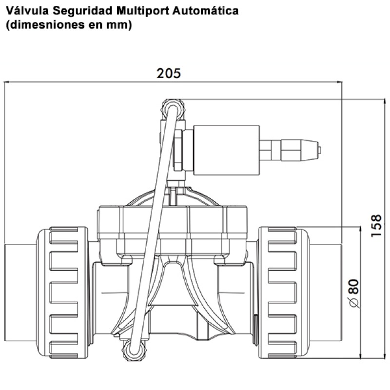 Válvula Seguridad Multiport Automática - Dimensiones
