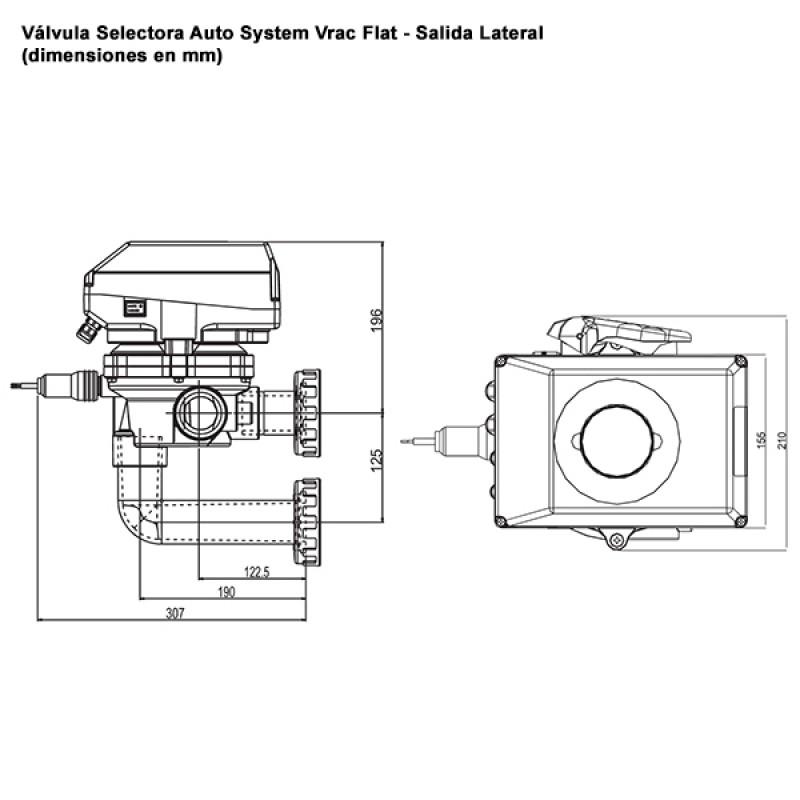 Válvula Selectora Auto System Vrac Flat - Lateral
