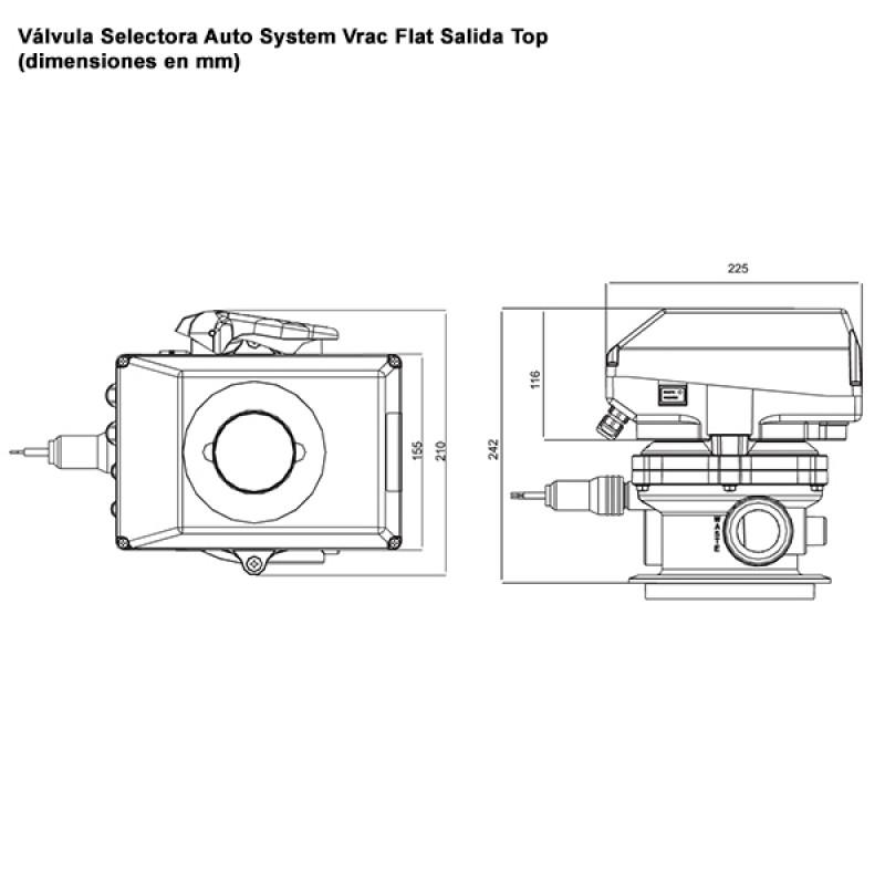 Válvula Selectora Auto System Vrac Flat - Top