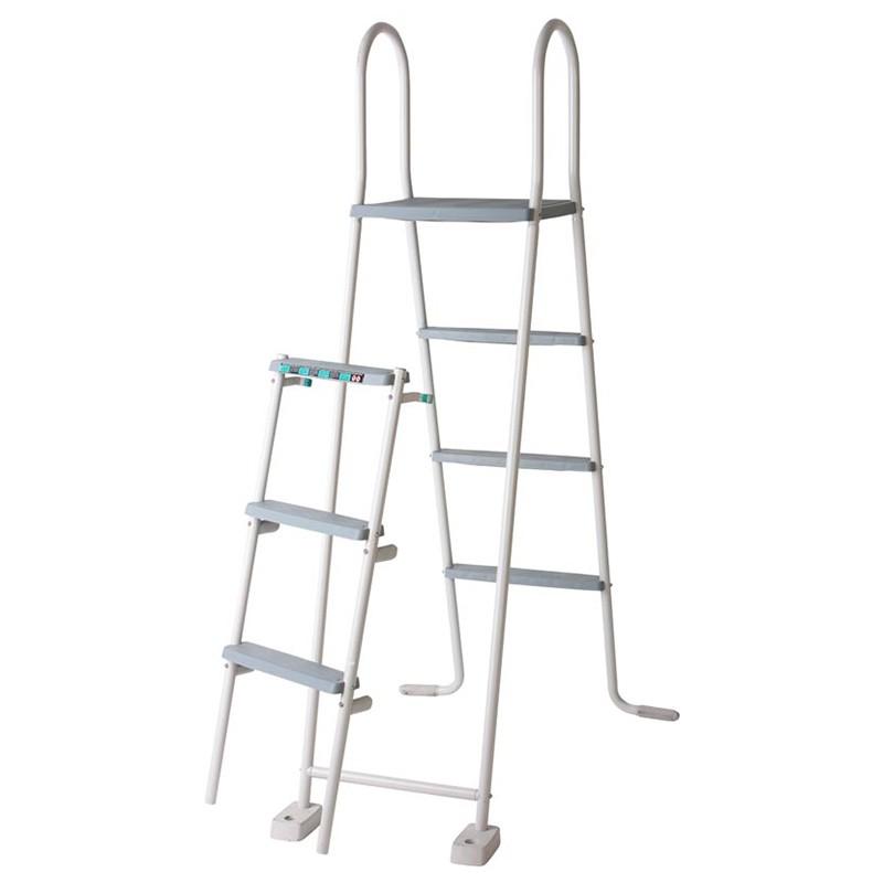 Escalera Gre para piscinas elevadas de 120-132 cm