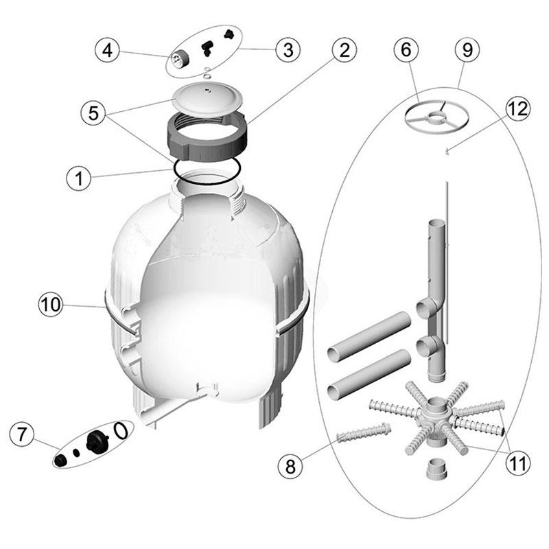 Recambios filtro Cantabric salida lateral Astralpool