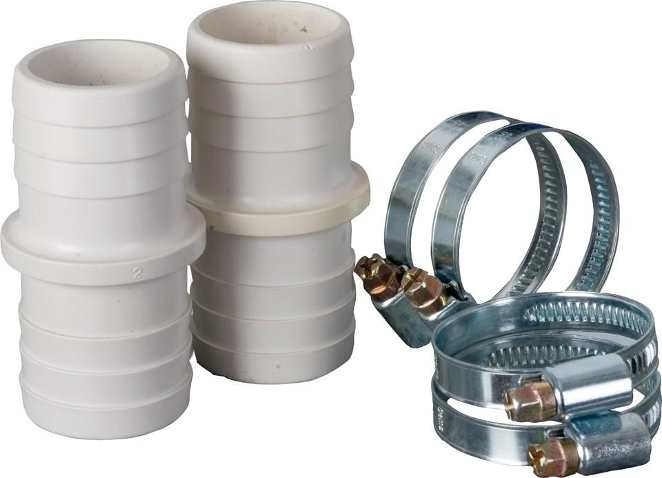 Kit conectores y abrazaderas 32/38 mm