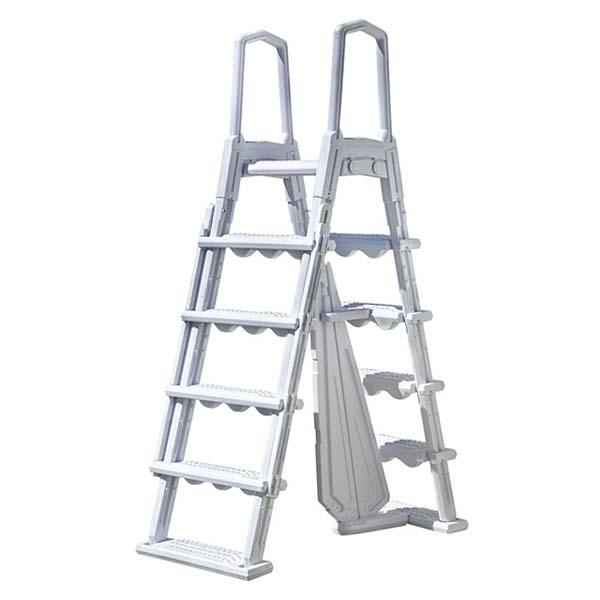 Escalera premium seguridad Gre con peldaños plegables