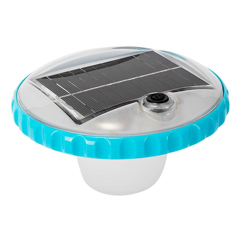 Luz LED flotante carga solar Intex