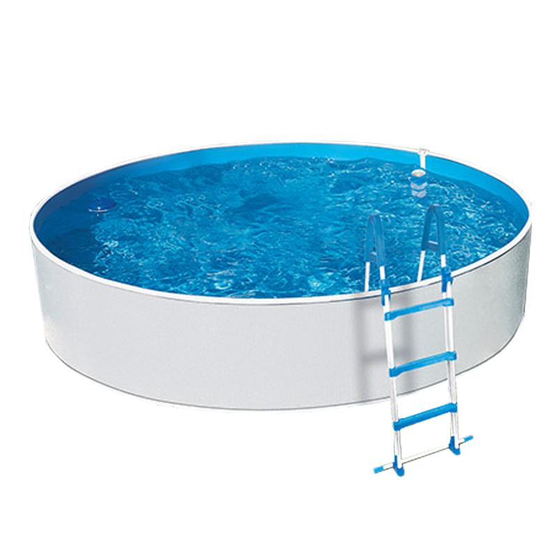 Piscina Azul Blanco 360 x 90 cm con filtro y escalera