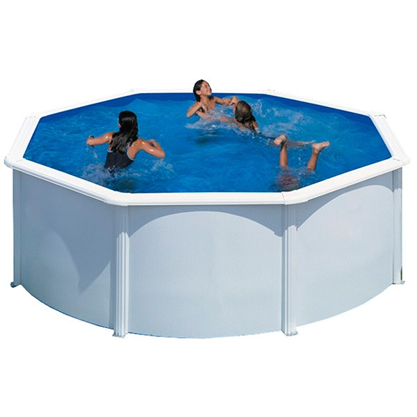 piscina acero blanco gre circular