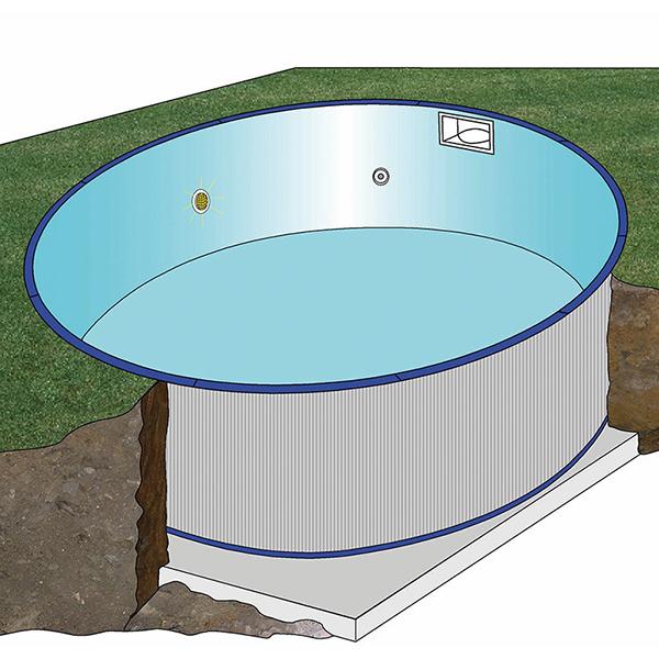 Piscina Gre Starpool circular Enterrada 120cm
