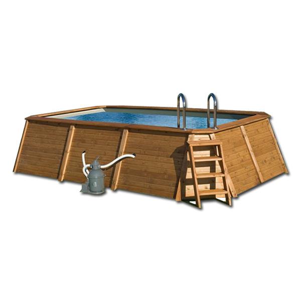 piscina de madera kokido espacio necesario
