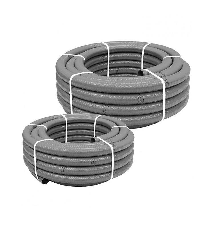 Tubería flexible en PVC