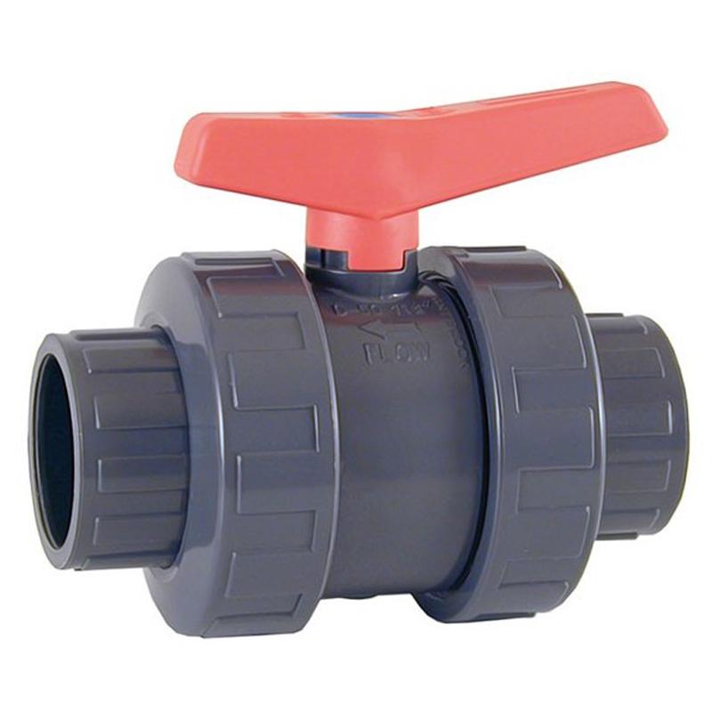 Válvula de bola Standard PVC Teflón FPM encolar