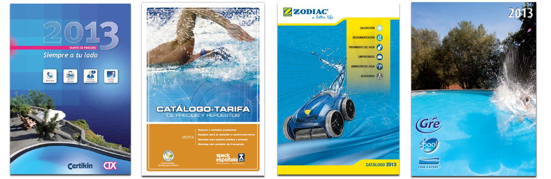 catalogos fabricantes piscinas de 2013