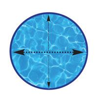 Piscina circular cálculo volumen