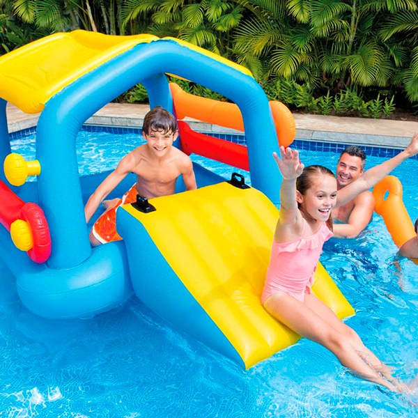Isla tobog n piscina intex outlet piscinas for Tobogan piscina carrefour