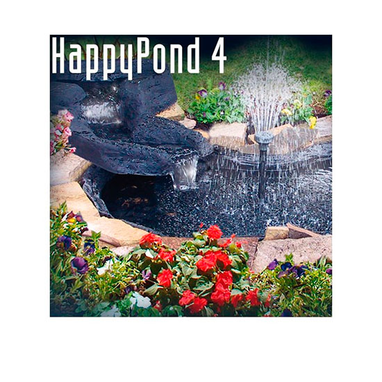 Kit estanque con bomba happy pond outlet piscinas for Kit estanque jardin