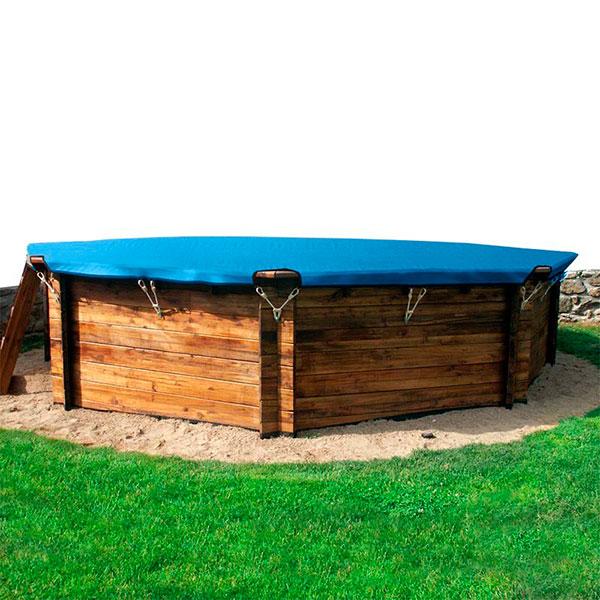 Cobertor invierno piscinas madera gre outlet piscinas - Cobertor piscina invierno ...