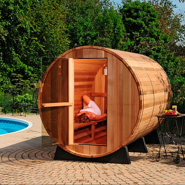 Sauna exterior barril r stica outlet piscinas - Soleria exterior ...