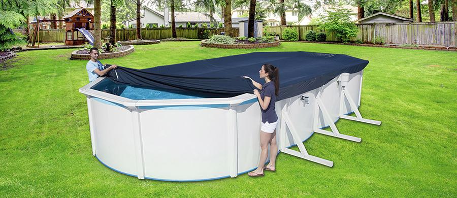 Cobertor trigano piscinas acero ovalada outlet piscinas for Piscinas bestway opiniones