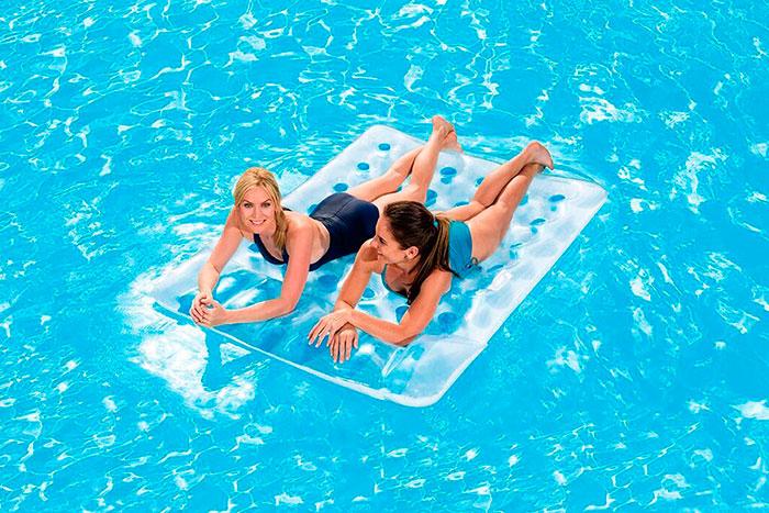 Colchoneta hinchable transparente doble outlet piscinas for Colchonetas piscina