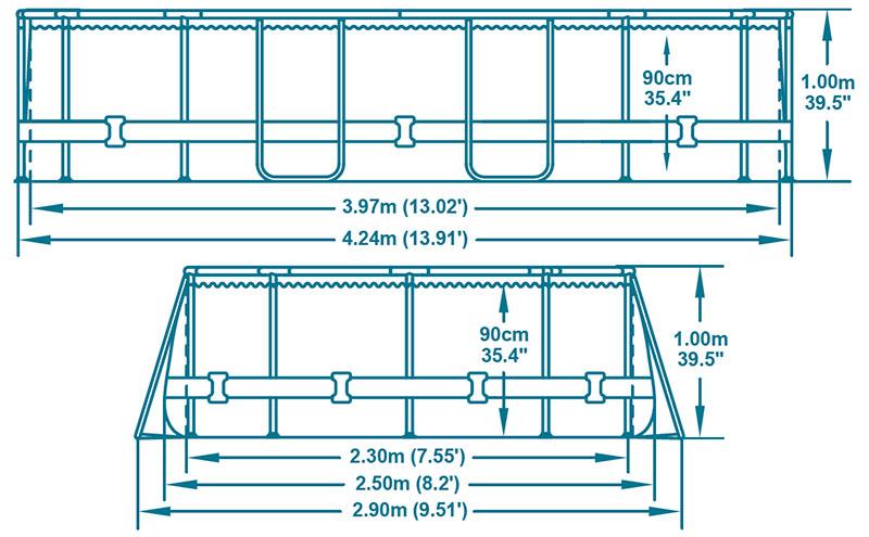 Piscina power steel oval 424x250x100 outlet piscinas Piscinas bestway medidas