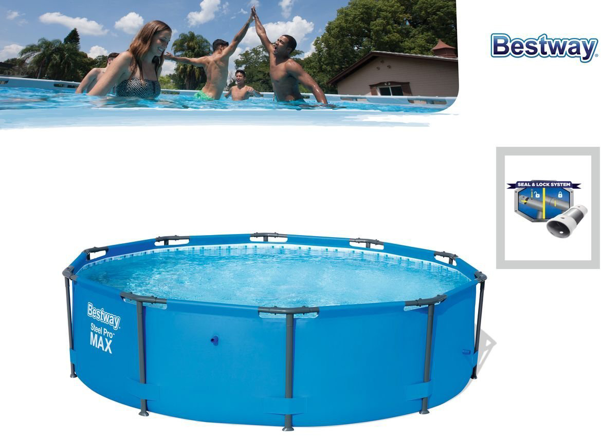 Piscina bestway steel pro max 305 x 76 cm outlet piscinas for Piscina tubular bestway