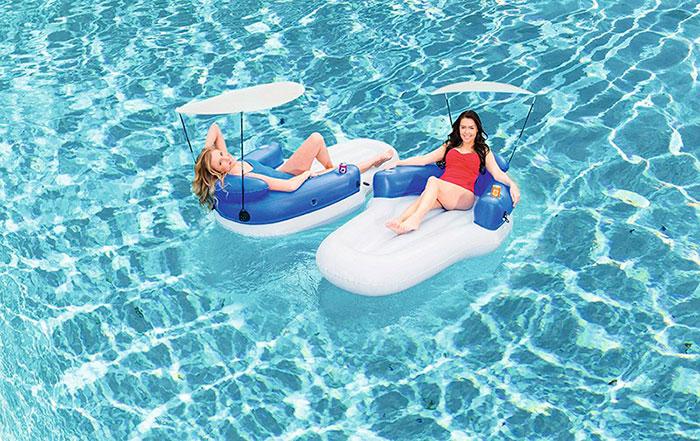 Set dos colchonetas lounge 198x104cm outlet piscinas for Colchonetas piscina