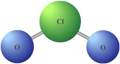 como es molecula de cloro