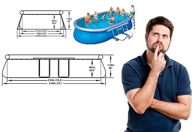 Espacio necesario para una piscina