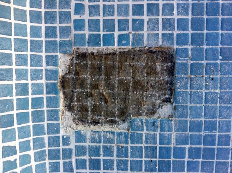 C mo se coloca el gresite en una piscina outlet piscinas for Colocar gresite piscina