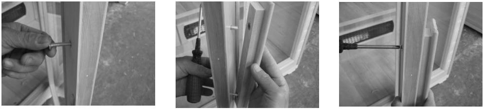 instalacion puerta sauna bisagras interiores