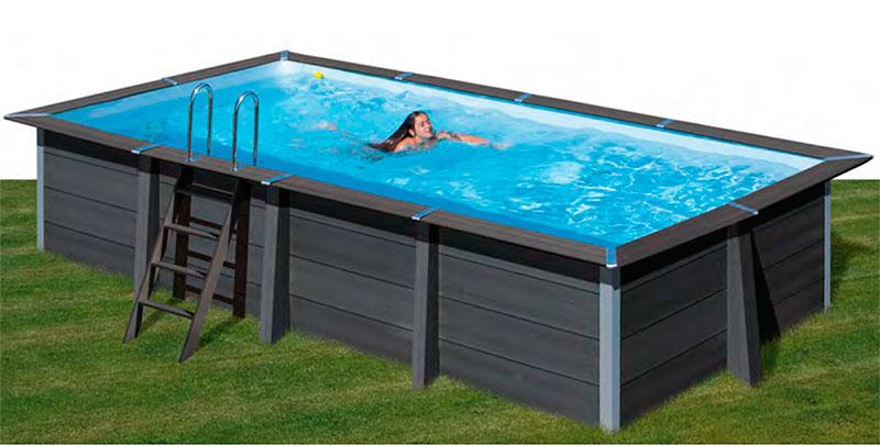 Piscina composite avantgarde rectangular outlet piscinas for Piscina composite