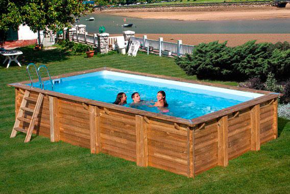 Piscina de madera marbella gre outlet piscinas - Piscina de madera ...
