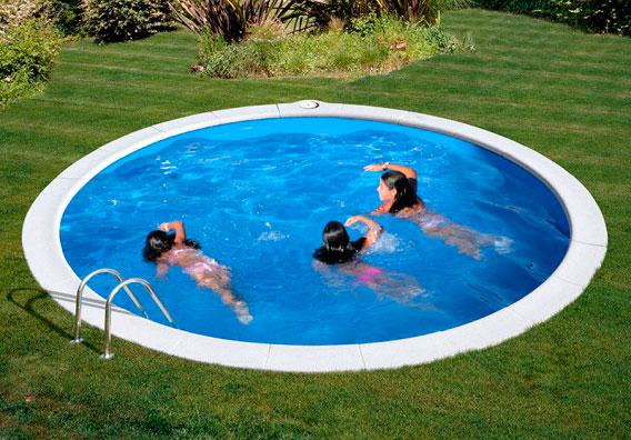 Piscina enterrada gre sumatra circular outlet piscinas for Piscina gre sumatra