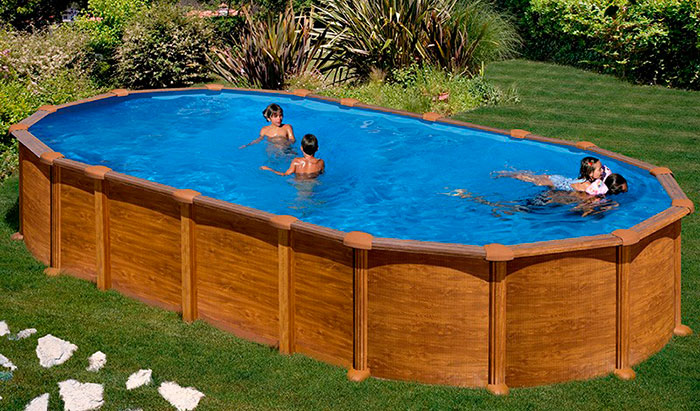 Piscina gre amazonia imitaci n madera outlet piscinas for Amazon piscina