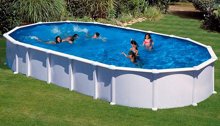 Piscina desmontable gre haiti ovalada outlet piscinas - Piscinas de acero enterradas ...