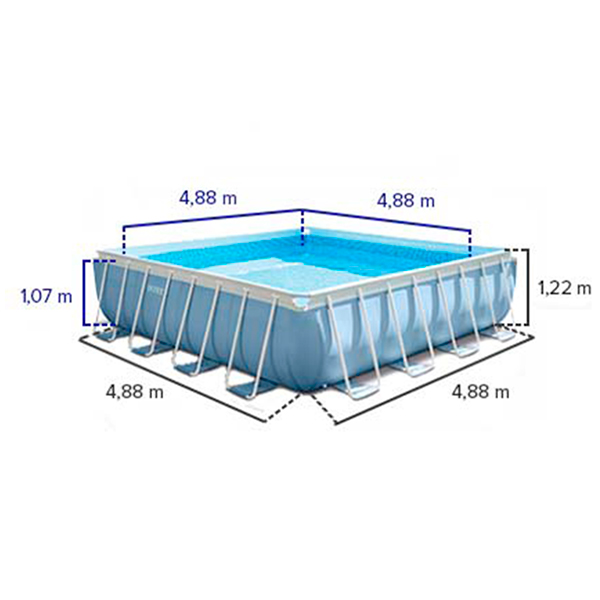 Medidas piscina cuadrada 488x488 intex