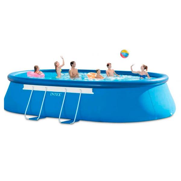 Piscina ovalada oval frame intex outlet piscinas for Intex piscinas accesorios