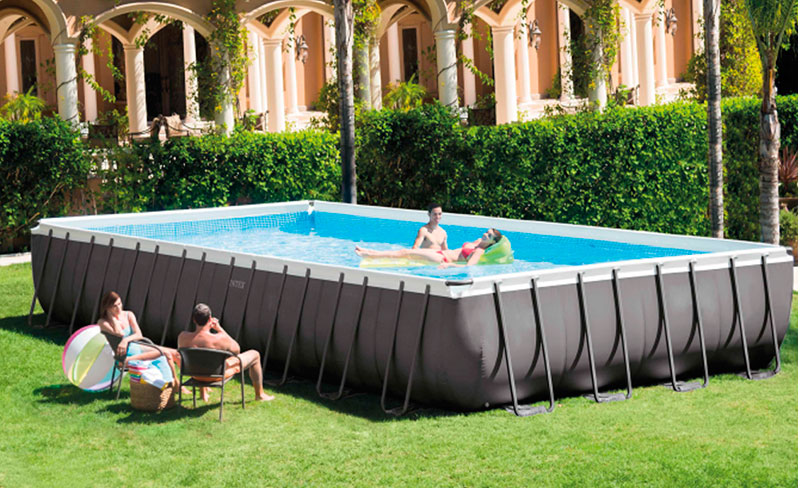 Piscina intex rectangular ultra frame 975x488x132 outlet for Piscinas rectangulares intex