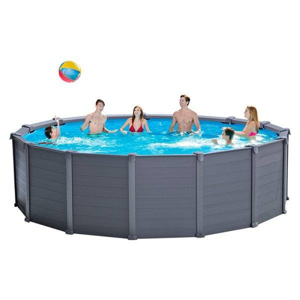 Piscina intex graphite panel 478x124cm outlet piscinas for Alberca familiar intex