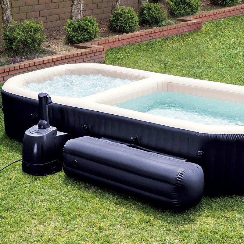 Spa hinchable purespa con piscina 55024 outlet piscinas for Cubierta piscina intex