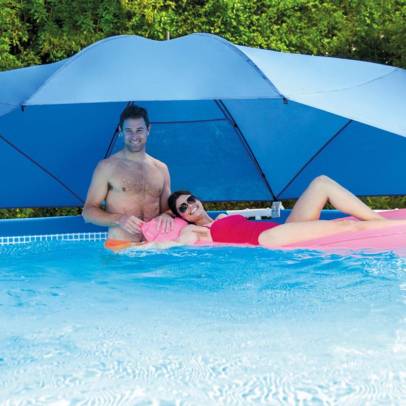 Toldo piscina metal ultra frame intex outlet piscinas - Piscinas intex espana ...