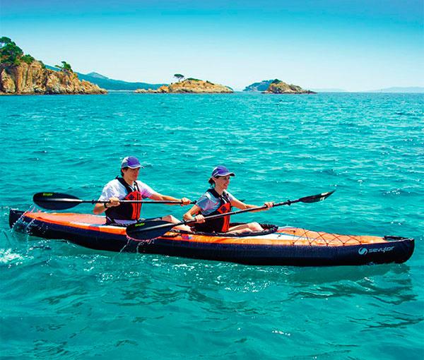 Kayak hinchable 2 plazas pointer k2 outlet piscinas for Piscina canoe
