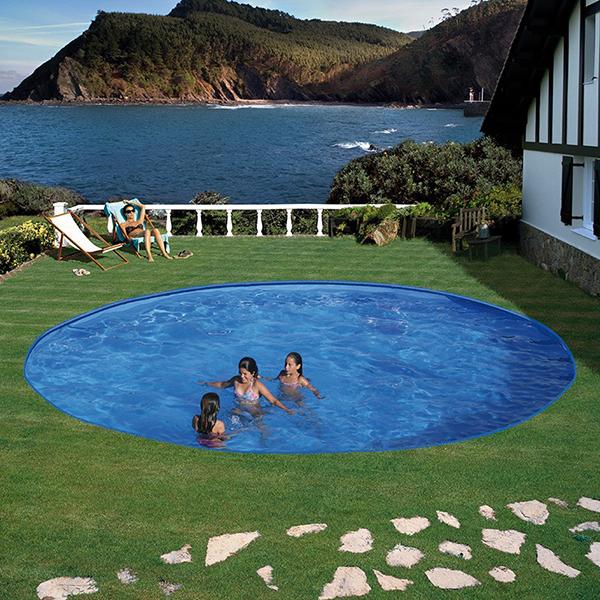 Piscina enterrada gre circular 120 cm outlet piscinas for Outlet piscinas
