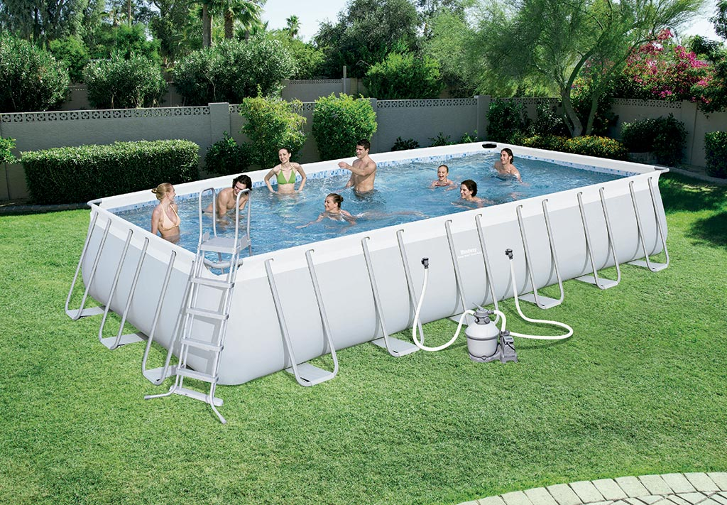 Piscina bestway power steel 56475 outlet piscinas - Montaje piscina bestway ...